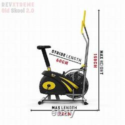 2-IN-1 Elliptical Cross Trainer And Exercise Bike Cardio Workout Machine