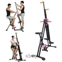2-in-1 Fitness Stepper Manual Exercise Cardio Workout Bike Home Gym Equipment UK