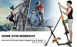 2-in-1 Vertical Climber Fitness Bike Exercise Stepper Cardio Home Sport Machines