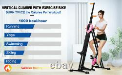 2-in-1 Vertical Climber Fitness Bikes Exercise Stepper Cardio Indoor Home Sport