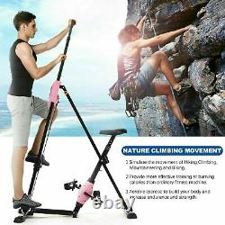2-in-1 Vertical Climber Steppers Fitness Bike Stair Machine Exercise Cardio HOT