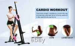 2-in-1 Vertical Climber Steppers Fitness Exercise Machine Cardio Gym Aerobic HOT