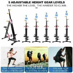 2-in-1 Vertical Climber Steppers Fitness Stair Machine Exercise Cardio Bike New