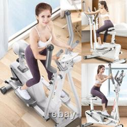 2 in1 Elliptical Cross Trainer Exercise Bike Fitness Cardio Workout Machine Pro