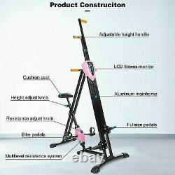 2in1 Vertical Climber Exercise Step Machine Exercise Bike Stepper Cardio Indoor