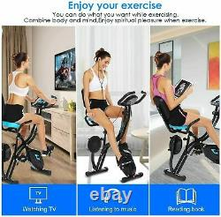 3 in 1 Exercise Bike Folding Fitness Slim Cardio Machine Workout Bicycle withAPP
