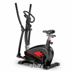 4-in1 Elliptical Cross Trainer Exercise Bike-Fitness Cardio Workout with Seat UK
