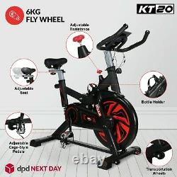6kg Flywheel Stationary Exercise Spinning Spin Bike Home Fitness Cardio & PULSE