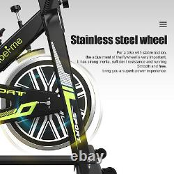 Black Exercise Bike Home Gym Bicycle Cycling Cardio Fitness Training Indoor UK
