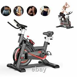 Black Exercise Bike Home Gym Bicycle Cycling Cardio Fitness Training Indoor Use