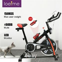 Black loefme Exercise Bike Cardio Fitness Training Indoor-10kg Flywheel
