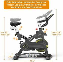 Cyclace Cardio Indoor Exercise Bike Stationary Cycling Bicycle Trainer 330lbs