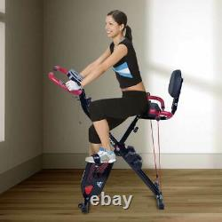 EVOLAND Exercise Bike Folding Indoor Fitness Cycle Quiet Home Gym Cardio Trainer