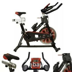 Elev-8 Spin Home Gym 15kg Flywheel Exercise Fitness Bike Cardio Workout Machine
