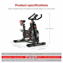 Exercise Bike Adjustable Resistance Workout Home Gym Trainer Cardio Fitness Red