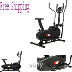 Exercise Bike Elliptical Cross Trainer 2in1 Cardio Fitness Workout Machine