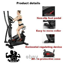 Exercise Bike Elliptical Cross Trainer 4 in 1 Cardio Fitness Workout Machine