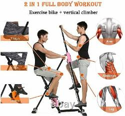 Exercise Bike Home Gym Bicycle Cycling Cardio Fitness Training Vertical Climber