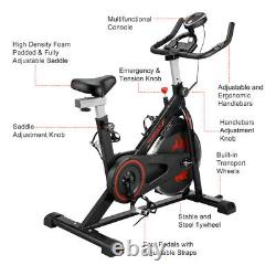 Exercise Bike Home Gym Bicycle Sport Cardio Fitness Workout Machine 120KG Loaded