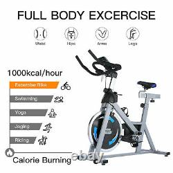 Exercise Bikes Indoor Cycling Bike Bicycle Home Fitness Workout Cardio withLED New
