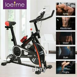 Exercise Bikes Trainer Cardio Fitness Workout Burn Calories Bicycle Gym Black