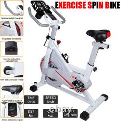 Exercise Spin Bike Home Gym Bicycle Cycling Cardio Fitness Training Indoor UK