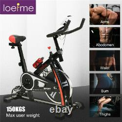 Exercise Trainer Bike Cycling Cardio Fitness Home Gym Burn Calories Black Indoor