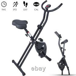 Foldable Exercise Bike Cardio-Training Indoor Bicycle Fitness Workout Trainer