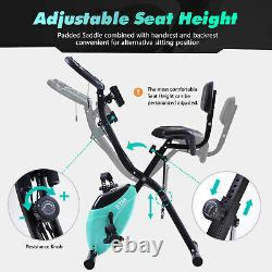 Folding Cycling Exercise Bike Indoor Training X Bike for Home Cardio Workout
