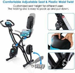 Folding Exercise Bikes Indoor Cycling Bike Home Bicycle Fitness Workout Cardio