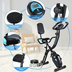 Folding Exercise Training Bike Indoor Cycling Bicycle Trainer Fitness Cardio Gym