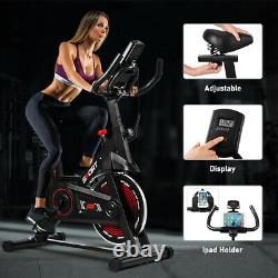 Folding Magnetic Exercise Bike Indoor Cardio Workout LCD Monitor Adjustable Seat