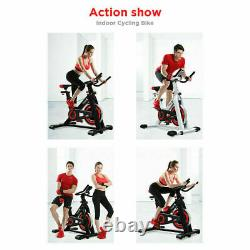 Heavy Duty Exercise Bike Home Gym Sports Cycling Cardio Fitness LED Monitor Seat
