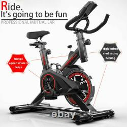 Heavy Duty Exercise Bike LCD Fitness Bicycle Cycling Home Gym Cardio Workout UK