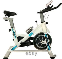 Home Exercise Bike Spin Fitness Bike Fitness Cardio Workout Machine PRO White