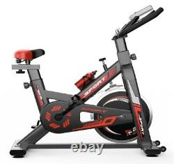 Home Exercise Spin Sport Bike Fitness Cardio Indoor Aerobic Machine Black Red