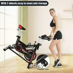 Home Gym Exercise Fitness Slim Bike Fitness Cardio Workout Machine LCD