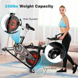 Home Indoor Gym Exercise Bike Fitness Cardio Workout Machine Training 150kg LCD