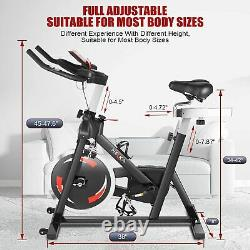 Home Indoor Gym Exercise Bike Fitness Cardio Workout Machine Training WithAPP LCD