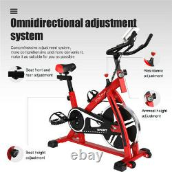 INDOOR EXERCISE BIKE CYCLE PEDAL FITNESS CARDIO TRAINING GYM HOME UK Red New