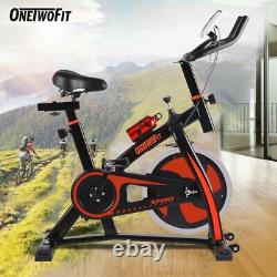 OneTwoFit Exercise Bike Cycling Cardio Indoor Training Fitness Home Gym Workout
