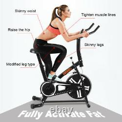 OneTwoFit Exercise Bike Home Gym Bicycle Cycling Cardio Fitness Training Indoor