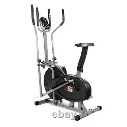 PRO CROSS TRAINER 2 in 1- EXERCISE BIKE CARDIO FITNESS WORKOUT MACHINE