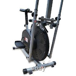 Pro XS Sports 2-in1 Elliptical Cross Trainer Exercise Bike-Fitness Cardio Weight
