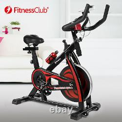 Red Exercise Bike Home Gym Bicycle Cycling Cardio Fitness Training Indoor