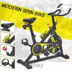 Yellow Exercise Bike Home Gym Training Bicycle Fitness Cardio Workout Machine